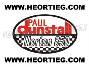 Paul Dunstall Norton 850 Tank and Fairing Transfer Decal DDUN9-1